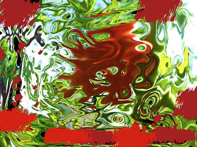 Photograph - Red And Green Melting by Tina M Wenger