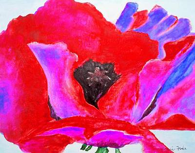 Digital Art - Red And Purple Poppy by Jamie Frier