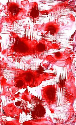Painting - Red And White by Anastasiya Malakhova