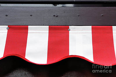 Photograph - Red And White Canopy by Tom Gowanlock