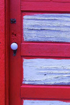 Red And White Door Art Print by Garry Gay