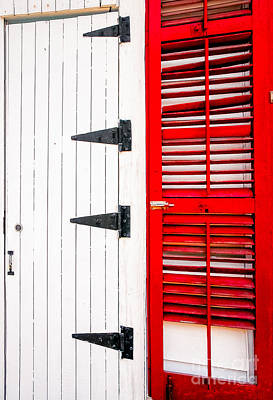 Photograph - Red And White Entrance-nola by Kathleen K Parker