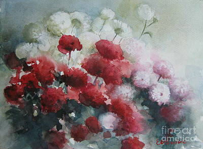 Painting - Red And White Flowers by Elena Oleniuc