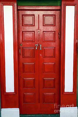 Photograph - Red And White Irish Door by John Rizzuto
