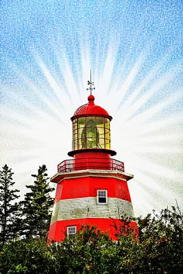 Photograph - Red And White Lighthouse Pubnico by Tatiana Travelways