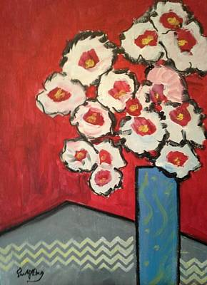 Painting - Red And White by Paula Day