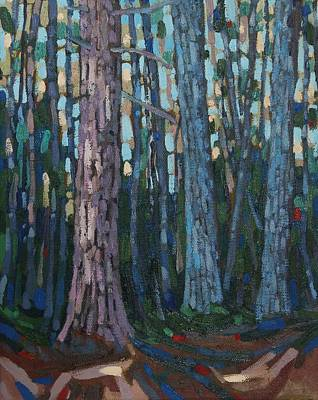 Other Painting - Red And White Pines by Phil Chadwick
