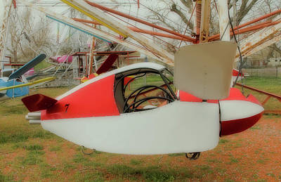 Photograph - Red And White Plane Ride by Tony Grider