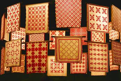 Photograph - Red And White Quilt Show by Polly Castor