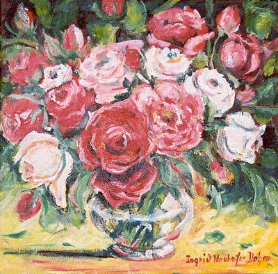 Red And White Roses Art Print