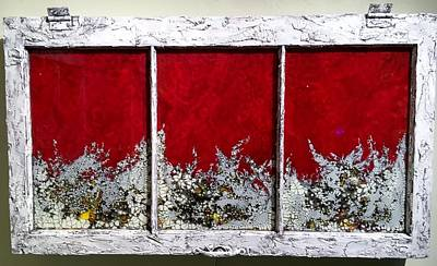 Mixed Media - Red And White Widow # 2 by Christopher Schranck