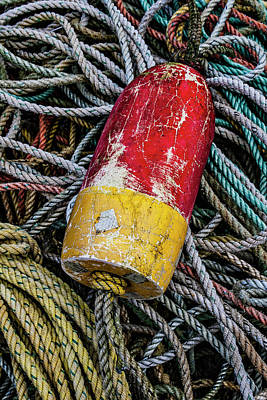 Photograph - Red And Yellow Buoy by Carol Leigh
