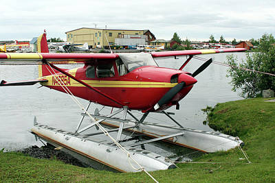 Photograph - Red And Yellow Float Plane by Fran West