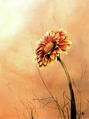 Painting - Red And Yellow Gerbera Daisy by Michelle Iglesias