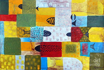 Painter Mixed Media - Red And Yellow by Jose Luis Montes