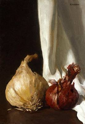 Painting - Red And Yellow Onions by Robert Holden