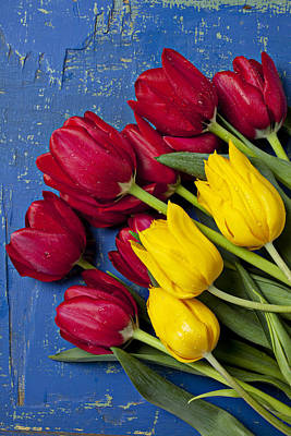 Springtime Photograph - Red And Yellow Tulips by Garry Gay