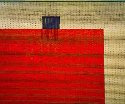 Photograph - Red And Yellow Wall by Ross Odom