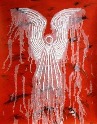 Red Angel Art Print by Bo Klinge
