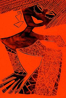 Archetype Painting - Red Aphrodite by Tetka Rhu