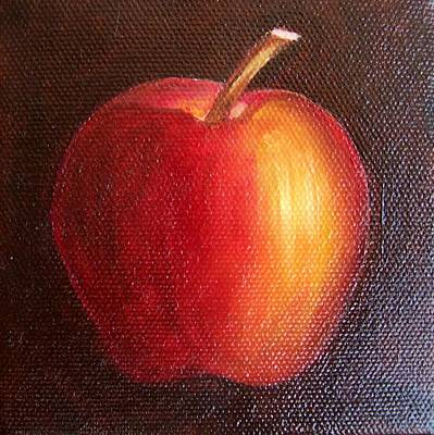 Painting - Red Apple 9 by Susan Dehlinger