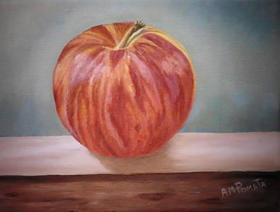 Red Apple Art Print by Angeles M Pomata