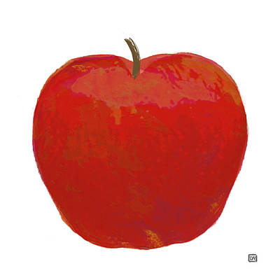 Painting - Red Apple I by Lisa Weedn