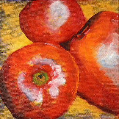 Painting - Red Apple Jumble by Nancy Merkle