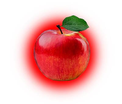 Apple Photograph - Red Apple by Manfred Lutzius