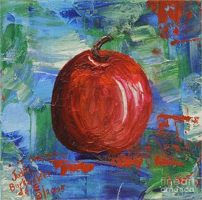 Painting - Red Apple Rhapsody-sold by Judith Espinoza