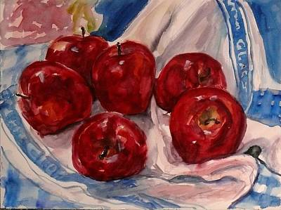 Red Apples Art Print by Doranne Alden