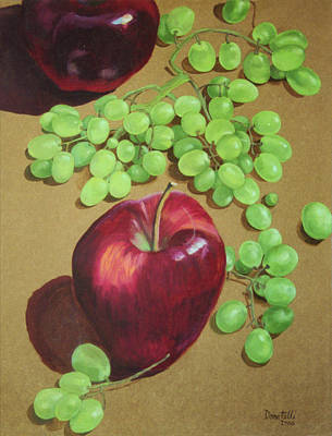 Painting - Red Apples Green Grapes by Kathryn Donatelli