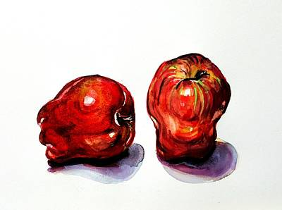 Drawing - Red Apples  by Hae Kim