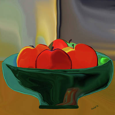 Digital Art - Red Apples by Haleh Mahbod