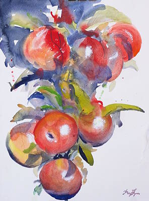 Langlois Painting - Red Apples by Kelsey Langlois