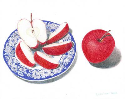 Red Apples Art Print by Loraine LeBlanc