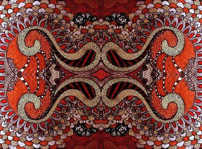 Red Art Print by Ariela
