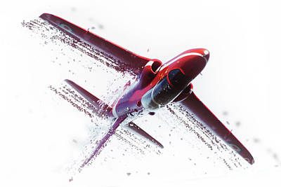 Red Arrow Shatter Art Print by J Biggadike