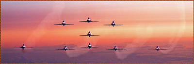 Photograph - Red Arrows At Dawn by Chris Lord