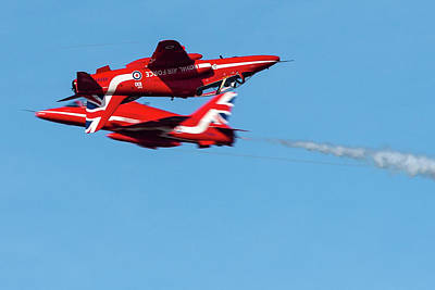 Photograph - Red Arrows  by Cliff Norton