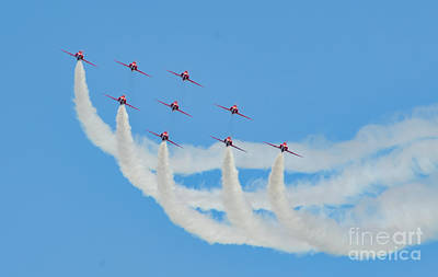 Photograph - Red Arrows by Colin Rayner