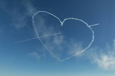 Photograph - Red Arrows Love Heart by Gary Eason