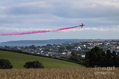 Photograph - Red Arrows Over Falmouth Cornwall by Terri Waters