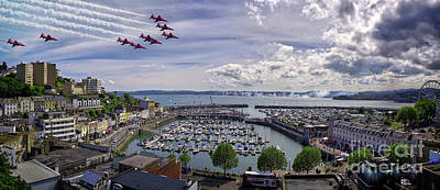 Photograph - Red Arrows Over Torbay by Edmund Nagele