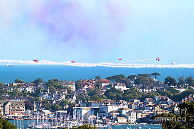 Photograph - Red Arrows Waving At Falmouth by Terri Waters
