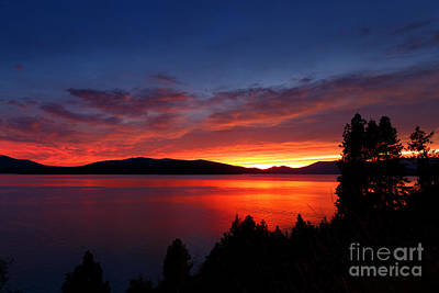 Lake Pend Oreille Photograph - Red At Night by Beve Brown-Clark Photography