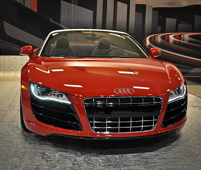 Red Audi R8 Seattle Auto Show 2011 Art Print