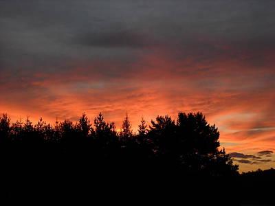Photograph - Red August Dawn Sky by Kent Lorentzen