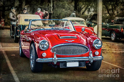 Photograph - Red Austin Healey 3000 Mkiii by Stuart Row