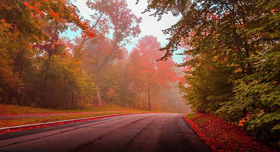 Milwaukee Road Photograph - Red Autumn by Art Spectrum